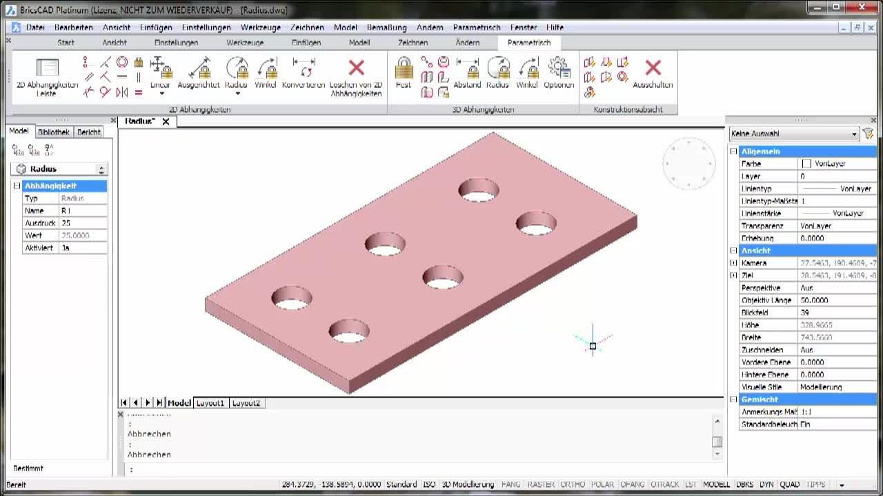 3D-Parametrik Radius