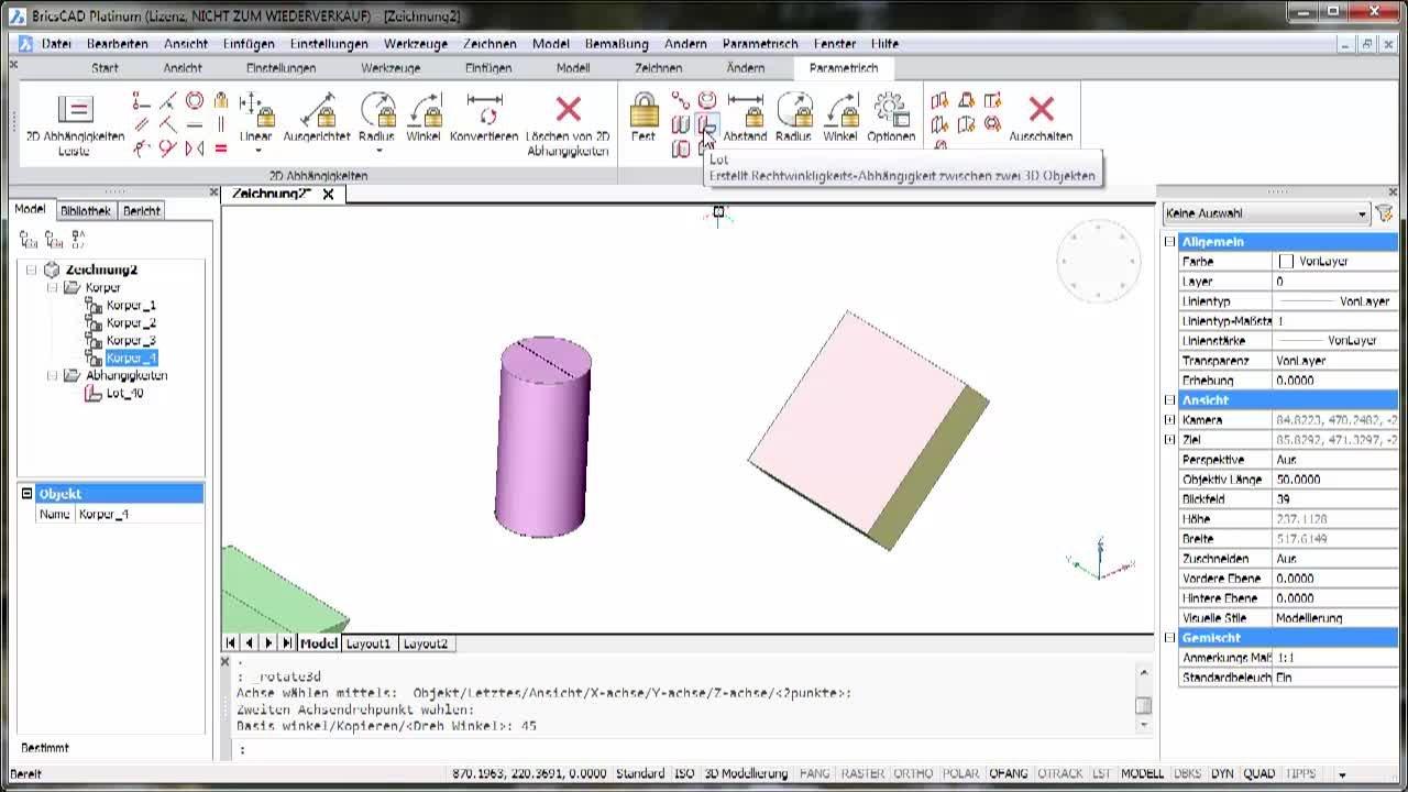 3D-Parametrik Lot