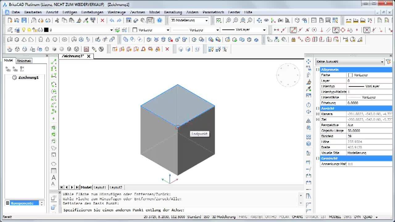 3D Flächen bearbeiten