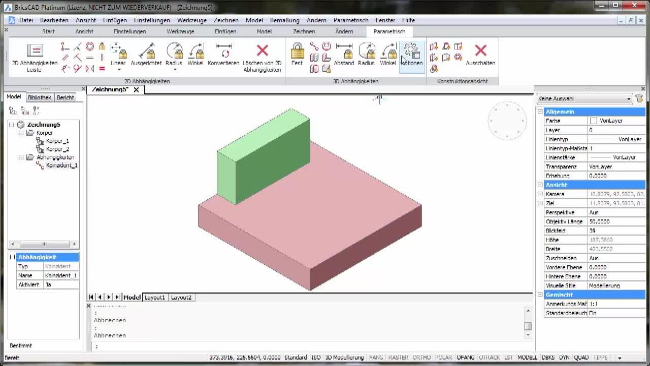 3D-Parametrik Winkel