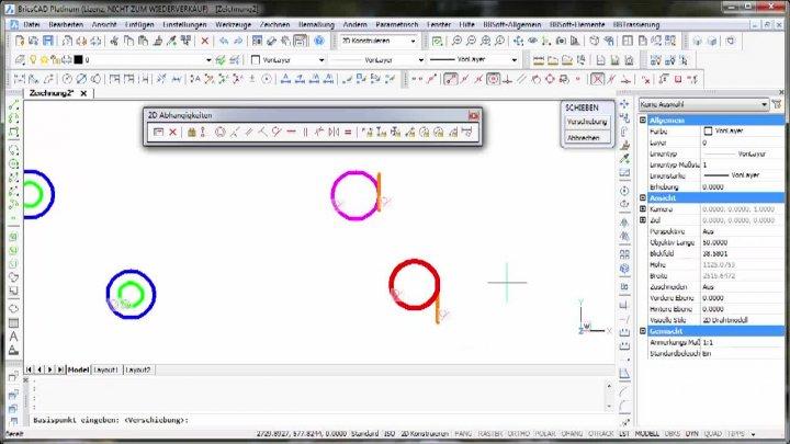 2D-Parametrik Konzentrisch - Tangential