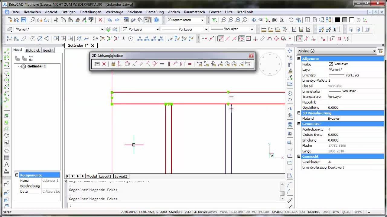 2D-Parametrik Geländer - Praxisbeispiel