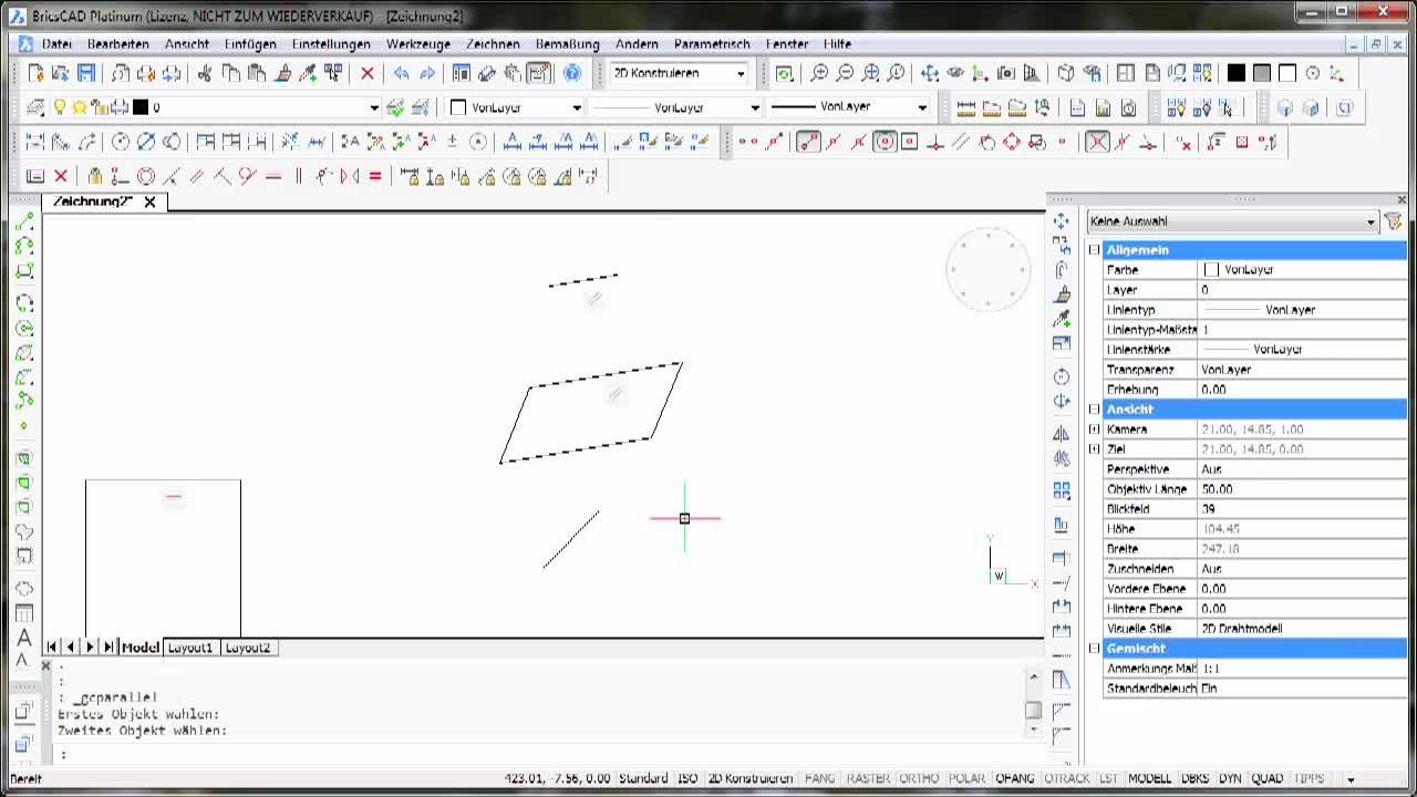 2D-Parametrik Horizontal - Vertikal - Lot