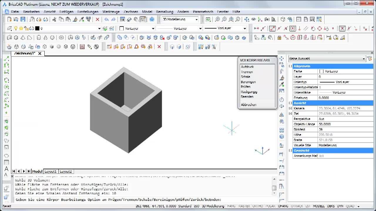 Eine 3D-Schale erzeugen