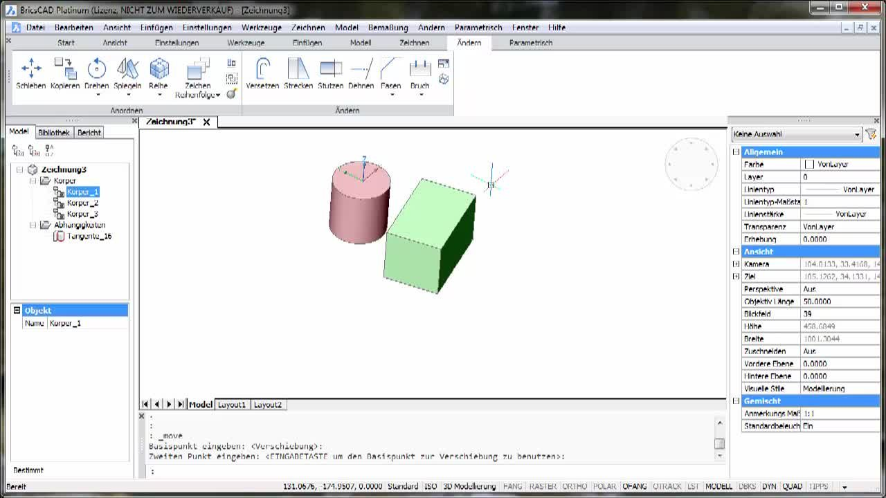3D-Parametrik Tangente