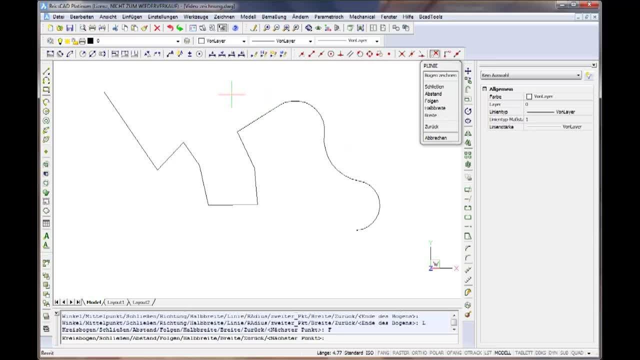Polylinien zeichnen