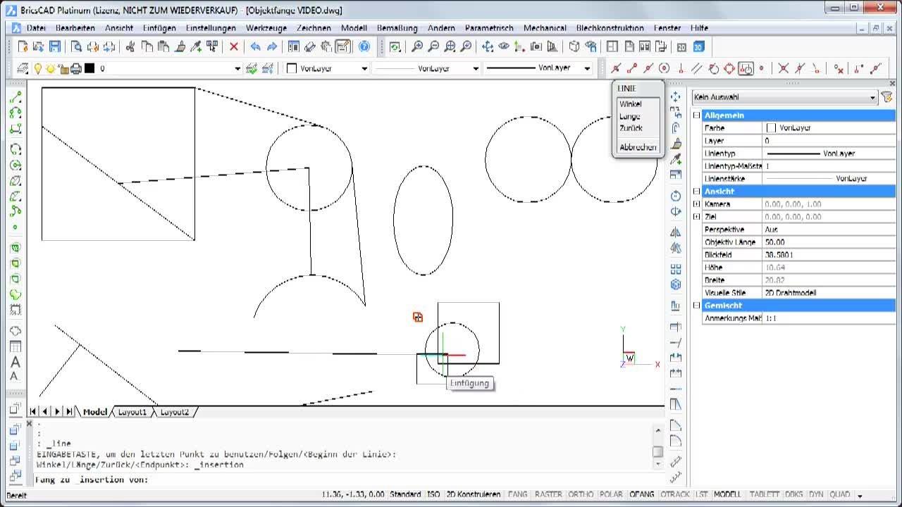 Konstruieren mit Objektfängen 2