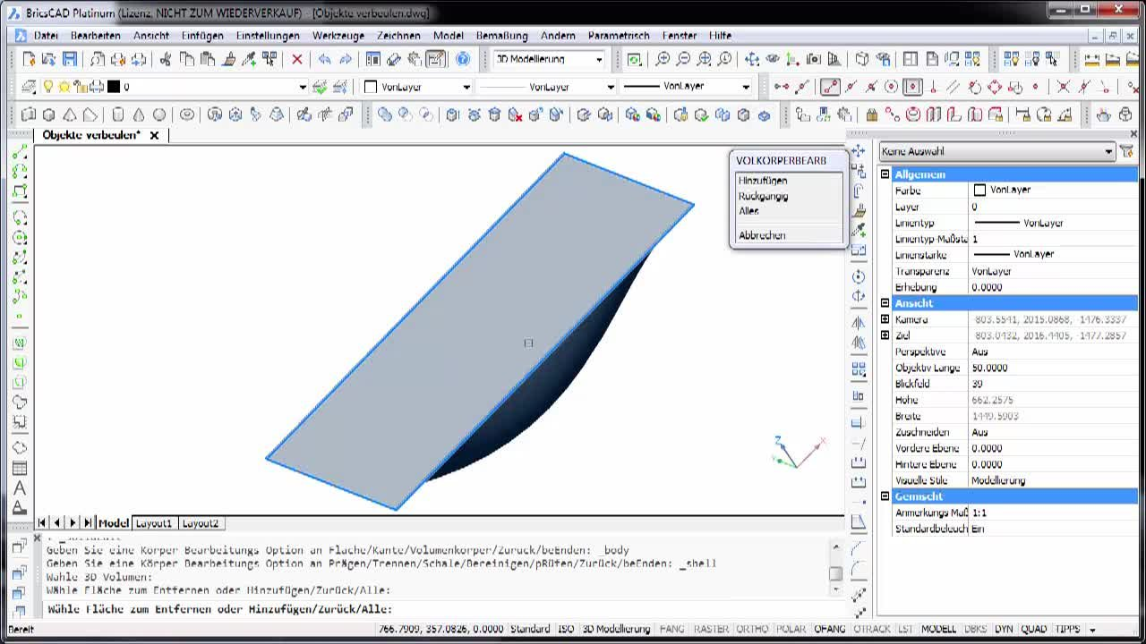 3D-Modellierung Objekte verbeulen
