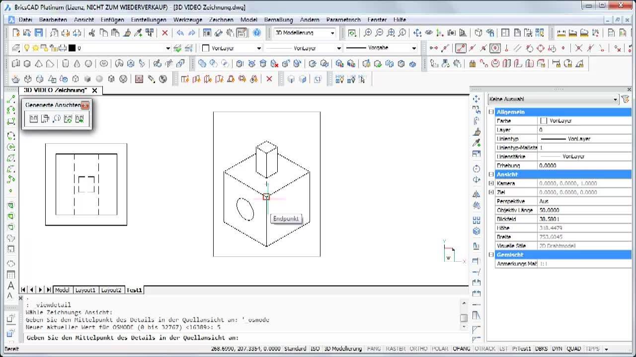 Generierte Detailpläne aus 3D-Objekten