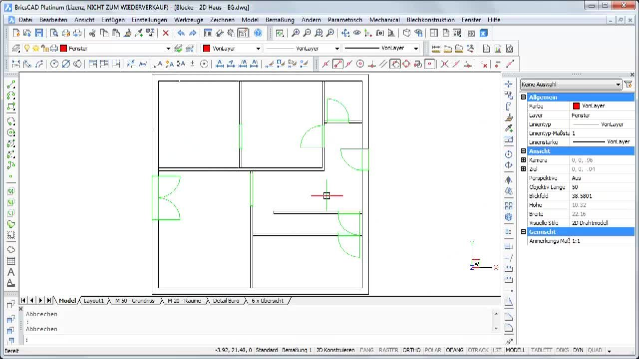 Inhalt BricsCAD 2D Channel