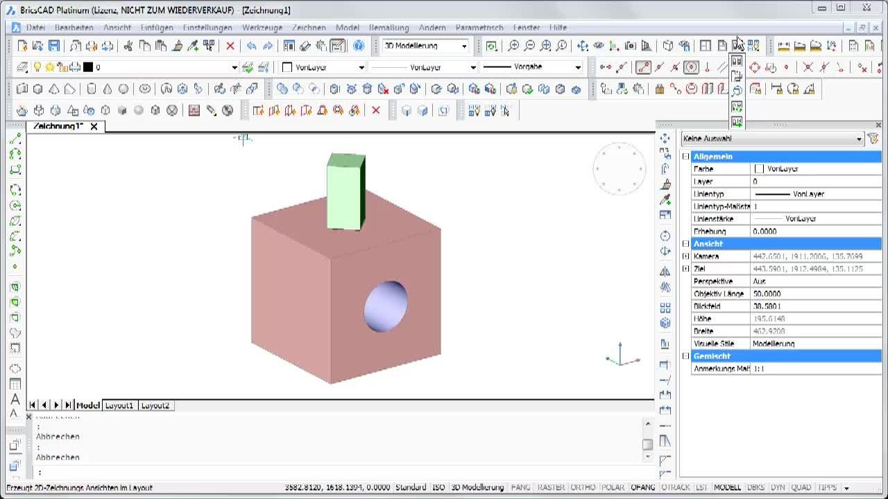 Generierte Ansichten aus 3D-Objekten