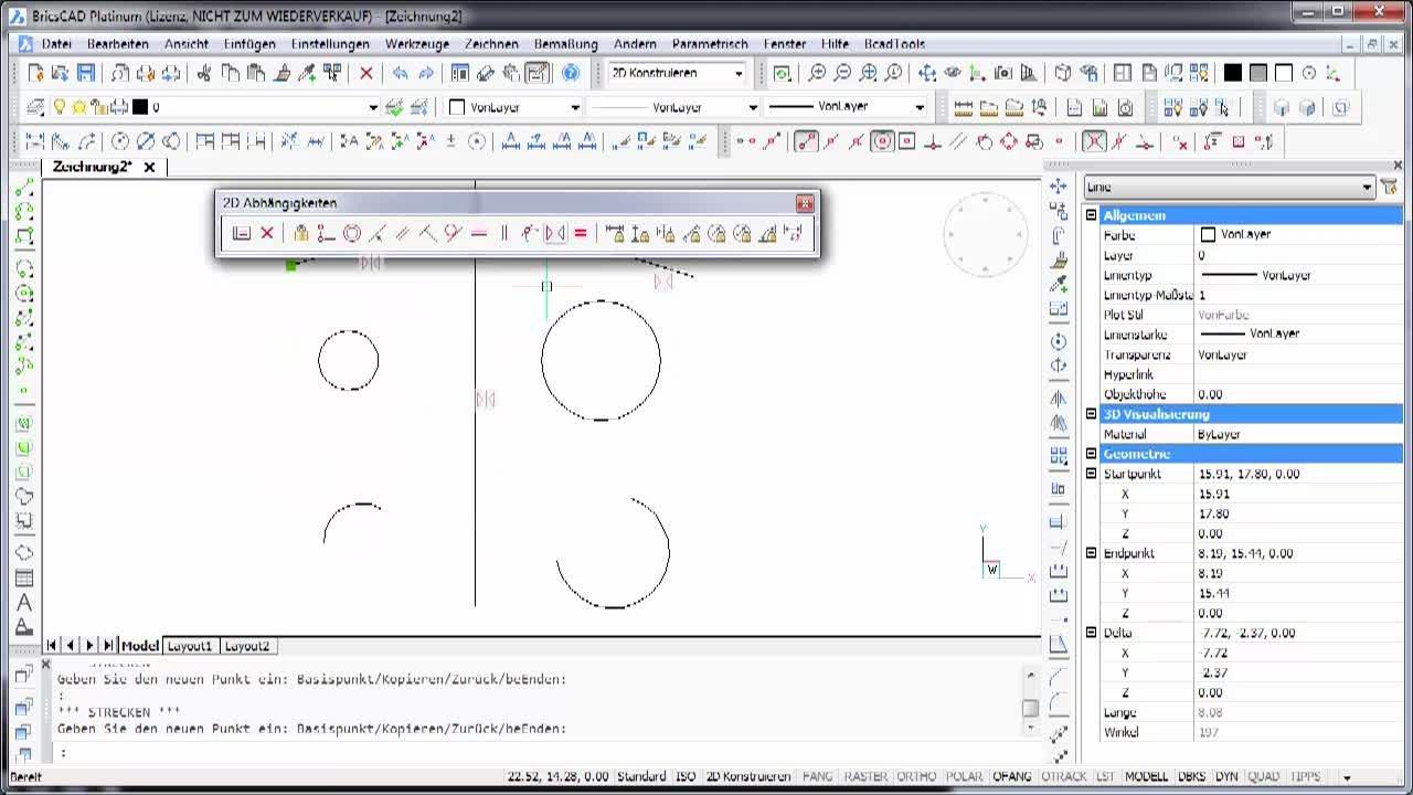2D-Parametrik Symmetrisch