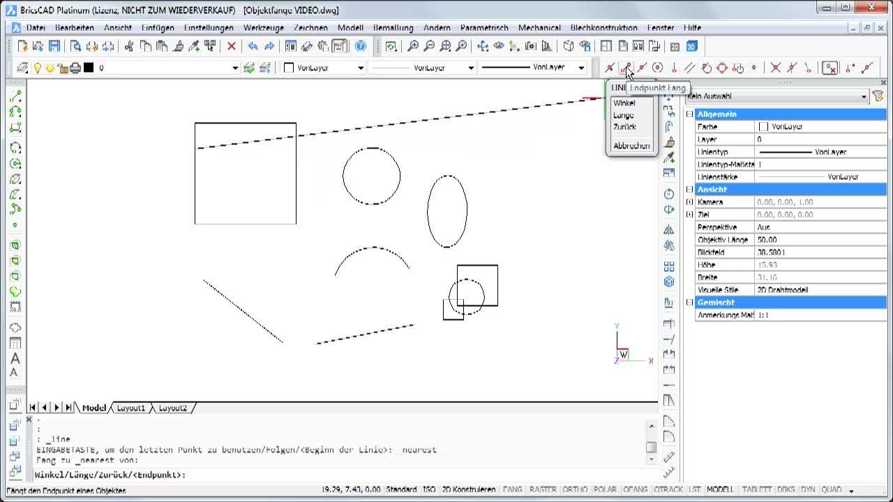 Konstruieren mit Objektfängen 1