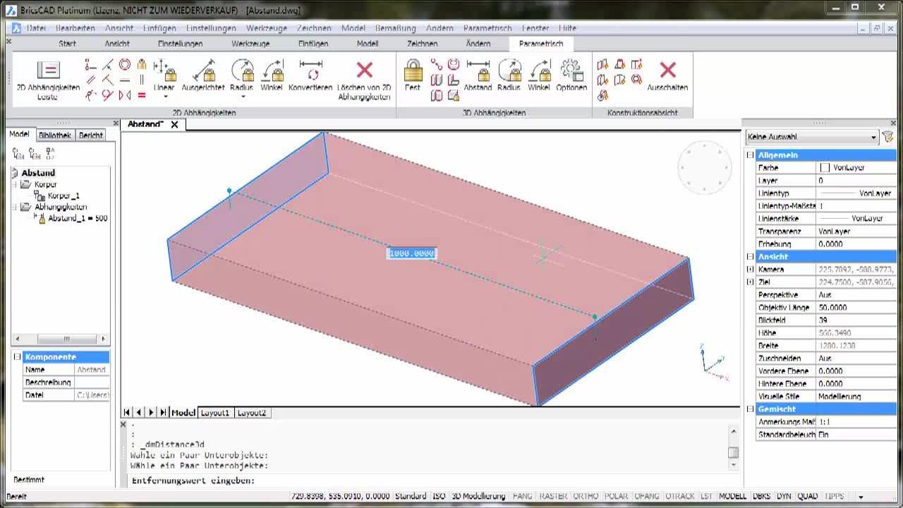 3D-Parametrik Abstand